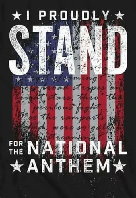 I proudly stand